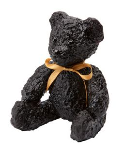 Black Teddy Bear Sculpture   Daum