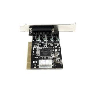 StarTech 4 Port RS232 PCI Serial Card Adapter with Power Output Components Black: Computers & Accessories