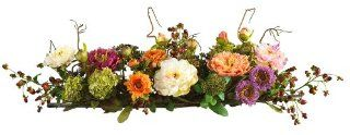 Nearly Natural 4665 Peony Centerpiece Silk Flower Arrangement, Mixed   Artificial Mixed Flower Arrangements