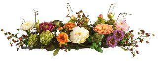 Nearly Natural 4665 Peony Centerpiece Silk Flower Arrangement, Mixed   Artificial Mixed Flower Arrangements