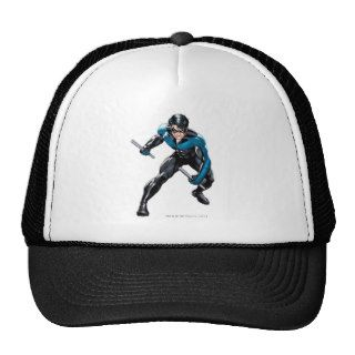 Nightwing with Weapons Mesh Hat