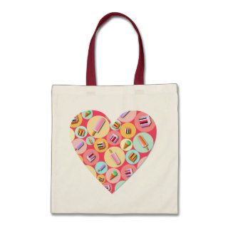 Sweet Candy Love Heart Tote Bag