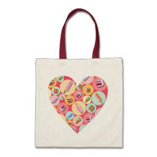 Sweet Candy Love Heart Tote Bag