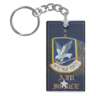 Security Forces Beret Rectangular Acrylic Key Chain