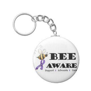 Bee Aware   Lupus Awareness Key Chain