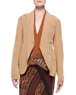 Womens Trompe lOeil Easy Jacket, Musk   Donna Karan   Musk (10)