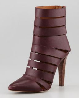 Debra Cutout Leather Bootie, Dark Brown   Rebecca Minkoff   Dark brown (36.0B/6.