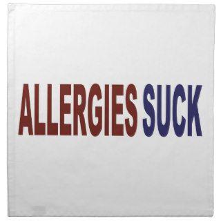 Las alergias chupan servilletas de papel de