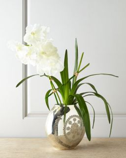 Vanda Reflections Faux Floral Arrangement   John Richard Collection