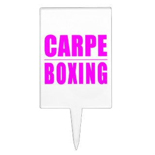 Funny Girl Boxers Quotes  : Carpe Boxing Cake Picks
