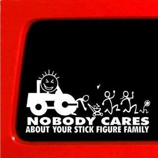 Steam Roller Nobody Cares About Your stick Figure Family Funny car vinyl sticker construction union: Automotive