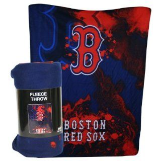 "Northwest Boston Red Sox MLB Light Weight Fleece Blanket (Wicked Series) (50x60"")"" NOR 1MLB031010004RET : Sports Fan Throw Blankets : Sports & Outdoors"