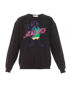 Mr Wolf embroidered sweatshirt  Aries
