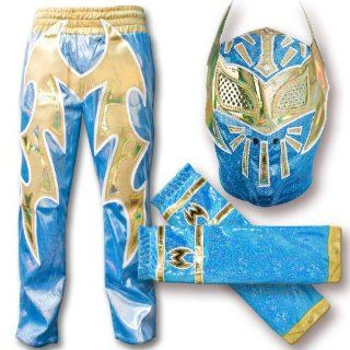 WWE Blue Sin Cara Combo Deal: Replica Mask, Pants & Armbands: Everything Else