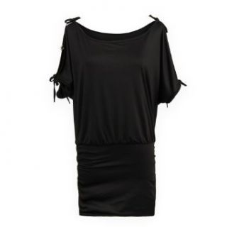 Gamiss Women's Sexy Boat Neck Off Shoulder Bat wing Sleeve Form fitting Mini Dress at  Women�s Clothing store: Womans Off Shoulder Batwing