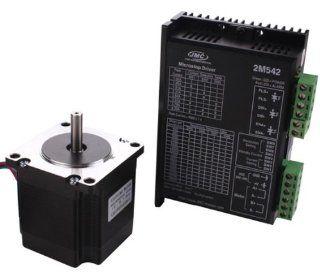 Sunwin NEMA 23 56mm 57BYGH56 401A 1.2N.m 57 Stepper Motor+2M542 Stepper Motor Driver: Computers & Accessories