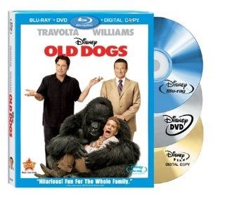 Old Dogs (Three Disc Blu ray Combo Pack w/ DVD + Digital Copy): Robin Williams, John Travolta, Seth Green, Kelly Preston, Lori Loughlin, Bernie Mac, Conner Rayburn, Matt Dillion, Rita Wilson, Ann Margaret: Movies & TV
