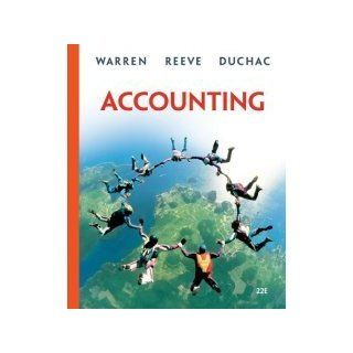 Accounting Textbook official Title is : Accounting (Hardcover)by Carl S. Warren (Author), James M. Reeve (Author), Jonathan Duchac (Author) Published by South Western College (ACCOUNTING TEXTBOOK FOR COLLEGE AND UNIVERSITY STUDENTS) : Office Products : Off