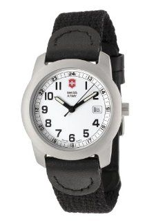 Victorinox Swiss Army Womens Field White Face Canvas Strap Watch 24979: Watches