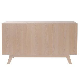 Howard Elliott 83003 Oslo 3 Door Buffet with Shelf, Birch   Bookcases