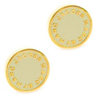 Marc by Marc Jacobs Classic Enamel Disc Logo Stud Earrings, Gold/Cream Marc by Marc Jacobs Jewelry