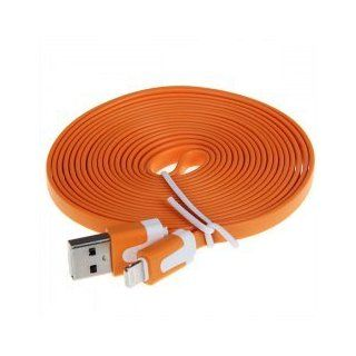 iBee Daily Life Series (Orange) Extra Long 3M Lightning to Noodle USB Cable for iPhone 5, Ipad Mini, Ipod 5th Generation Original Only Asia Trendy Shop Beware Fake From Others: Everything Else