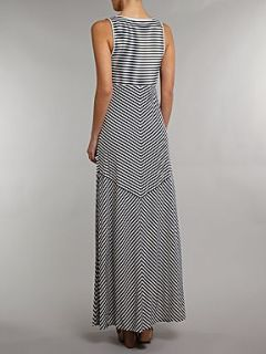Adrianna Papell Multi direction stripe maxi dress Multi Coloured