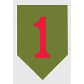 1ST INFANTRY DIVISION Outside Window Decal : Window Treatment Vertical Blinds : Everything Else