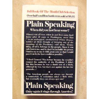 Plain Speaking: An Oral Biography of Harry S. Truman: Merle Miller: 9780425026649: Books