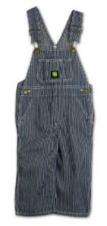 John Deere Toddler Boys Hickory Stripe Bib Overall: Clothing