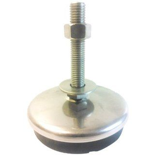 "Sunnex AM Series Stainless Steel Leveling and Anti Vibration Machine Mount, 3/4"" 10 Thread, 6"" Bolt, 4000 lbs Load Rating, 8 1/8"" Overall Height: Vibration Damping Mounts: Industrial & Scientific"