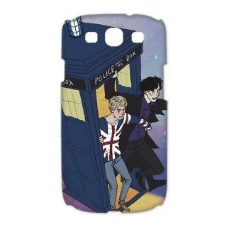 Custom Your Own Personalized Doctor Who and Sherlock SamSung Galaxy S3 I9300 Case 3D Snap on Hard Case Cover Computers & Accessories