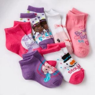 Disney Doc McStuffins 6 pk. 1/4 Crew Socks   Toddler (2T 4T): Casual Socks: Clothing
