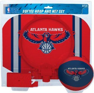 NBA Atlanta Hawks Slam Dunk Softee Hoop Set: Sports & Outdoors