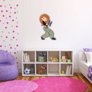 """Kim Possible crime fighter Wall Graphic Decal Sticker 25"""" x 16""""   Wall Decor Stickers"""