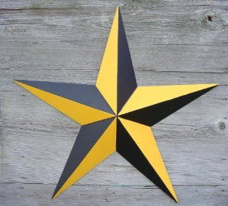 "16"" Nautical Yellow/black Metal Star. This Unique Nautical Star Is a Magical Way to Decorate. The Star Is Made From .22 Gauge Steel to Ensure Long Life. The Nautical Star Represents Trying to Ensure a Safe Direction in Life. Sailors Used the Stars to"