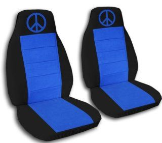 2000 VW Beetle car seat covers. 2 black and med blue seat covers, with a med blue peace sign. If you have side airbags please notify us: Automotive
