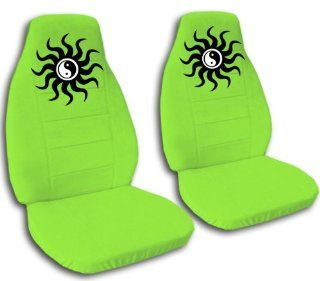 2 Ying Yang seat covers. Lime green seat covers for a 2000 VW Beetle. Please contact us if you have side airbags: Automotive