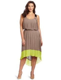 Jessica Simpson Women's Plus size Pleated Colorblock Dress