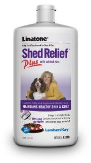 Lambert Kay Linatone Shed Relief Plus Skin and Coat Liquid Supplement for Dogs and Cats, 8 Ounce : Pet Fish Oil Nutritional Supplements : Pet Supplies