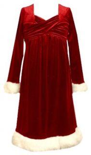 Bonnie Jean Girls 7 16 Santa Dress,Red,7 Clothing