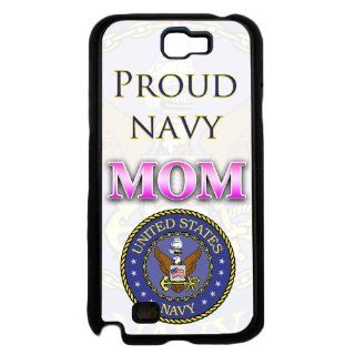 Proud Navy Mom U.S American Soldier Samsung Galaxy Note II 2 N7100 Phone Case Rare: Everything Else
