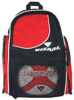 Vizari Solano Custom Soccer Backpacks RED 10 X8 X16.5  Soccer Ball Bags  Sports & Outdoors
