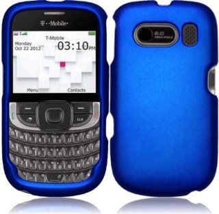 [Maniagear] Blue Rubberized Shield Hard Case for T Mobile Aspect ZTE Wombat F555 (T Mobile): Cell Phones & Accessories