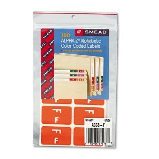 Smead�   Alpha Z Color Coded Second Letter Labels, Letter F, Orange, 100/Pack   Sold As 1 Pack   Use as a secondary label with name labels, or use as primary coding labels.: Everything Else