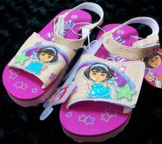 Nick Jr Dora the Explorer Kid Size 11 12 Shoes/sandles, Great for Halloween Costume: Toys & Games