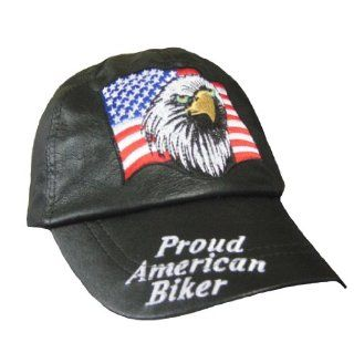 Proud American Biker Hats for Men   Patriotic Baseball Cap   Adjustable : Sports Fan Baseball Caps : Sports & Outdoors