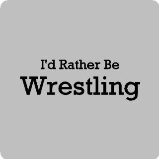 "I'd rather be wrestling.Wrestling Wall Quotes Words Sayings Removable Wall Lettering (12"" X 35""), BLACK   Wall Decor"