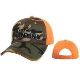 I'd Rather Be Hunter Camo and Blazed Orange Ball Cap Clothing
