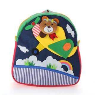 DDStore Handmade Cotton Baby Bag 3D Cartoons Plane Bear Backpack : Diaper Tote Bags : Baby